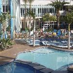View of one of two pool areas