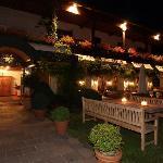 Gastgarten abends