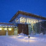 Morris Thompson Cultural & Visitors Center in the winter.