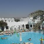 Pool area - part of the Sinai mountains are visible in the background