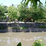 The river that divided the villa's from Legian - a challenging walk into town