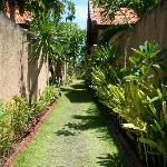 The pathway between the villas