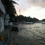 View of Sabang Beach - very small beach, not used of swimming.