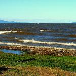 Guests enjoying the lakefront of La Joya Eco-Community