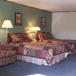 Our Family Room, two double beds, sleep sofa, flat screen tv, playstation, fridge, microwave, to