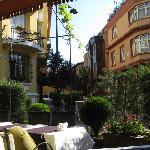 Street level terrace