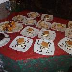 Dessertbuffet an Weihnachten