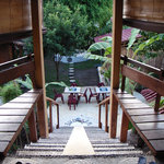 stairs to the yogashala