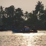 Fish boat on the river