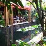 restaurant overlooking one of the ponds