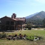 vista de los bungalows