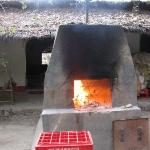 the brick oven for fresh bread