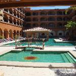 Pool area with swim-up bar