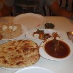 Mutton curry, panner tikka and briyani