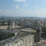 View of Iasi from my room in Hotel Unirea.