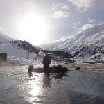 Jacuzzi with piste view!!