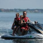Skip and kids on the jet ski