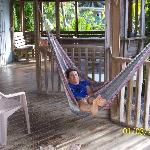 Porch w/ hammocks and tables