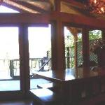 Panorama of Deck Through French Doors