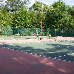 Tennis Courts among the amenities on 84 acre Sunny Point Resort