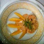 Delia's shrimp with mango