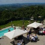 Pranzo sulla terrazza panoramica