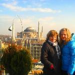 Auf der Dachterrasse des Hotel Adamar