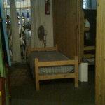 cama para dormir en pasillo