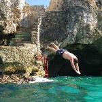 Diving from the Castle and entrance of Cave