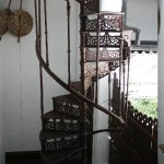 The Old Wrought Iron Spiral Staircase