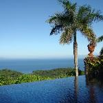 View of the ocean from the pool