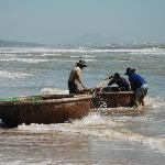 Local Fishermen (Phan Thiet on horizon in background)
