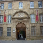 The facade of the Palais de l'Archeveche which houses the Musee des Tapisseries
