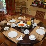 Rich breakfast at ROMANTIC HOTEL SANTO DOMINGO