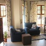 The lounge area has satellite TV