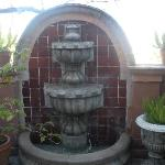 My patio with fountain