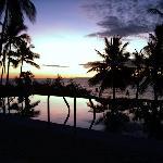 Sonnenuntergang in der Villa-Rosa