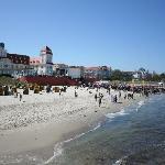 Kurhaus Binz und der Strand
