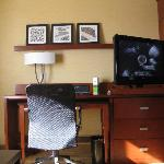 Television and business desk