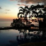 The pool at sunset!