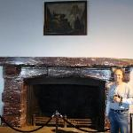 Me drinking a beer at Hitlers fireplace at Kehlsteinhaus (Eagles Nest)