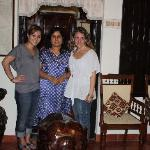 My friend Trina and I with our host Neema