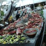 V.I.P. Party Seafood display.