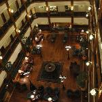 View of the hotel lobby