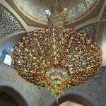 Kronleuchter in der Moschee