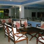 The lobby and its comfy open concept with loungers