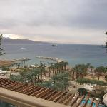 view of Red Sea from our lovely 10th floor suite patio