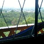 My balcony overlooked Mindo on one side