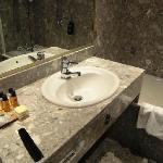 Eine Badezimmeransicht
