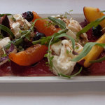 Bresaola, fruit, figs and burrata